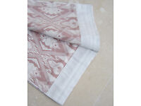 Pair of WHITE & PINK Curtains W94cm L242cm Double Sided NEW