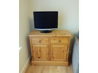 Solid wood TV unit/side board with drawers and cupboard space (Baberton)