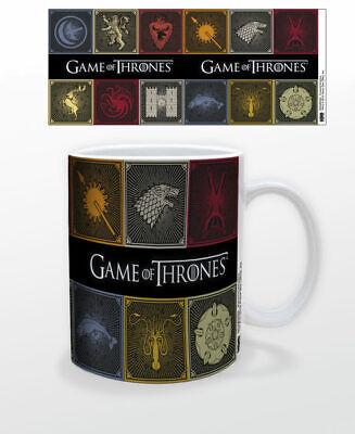 GAME OF THRONES SQUARE SIGILS 11 OZ COFFEE MUG TEA CUP HBO TV JON SNOW GIFT NEW!