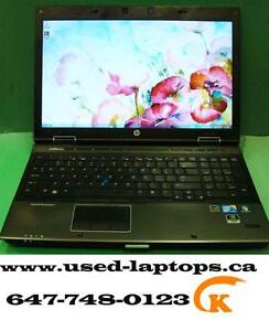 The powerful,secure,rugged laptop hp 8540w(i5/8G/500G/FHD display/1G GPU/Webcam)$370 for pick up!