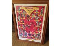 "Liverpool framed photo "" legends of anfield "" rare"