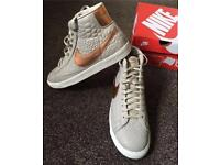 Brand new. Nike blazers women's leather prime high tops 5.5 uk size