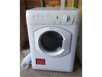 WHITE HOTPOINT AQUARIUS TVM562 REAR VENTING CLOTHES TUMBLE DRYER - 6KG LOAD - 850h x 595w x 550d mms