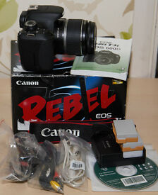 Canon Rebel t3i with lens