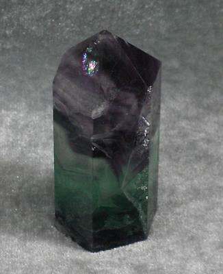 Rainbow Fluorite Healing Focus Point Pyramid Massage Wand 65Mm Generator 3Rd Eye