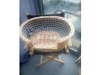 Small wicker Dog basket missing cushion