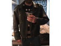 ROUTE 66 Original Vintage Quality Leather Jacket XXL
