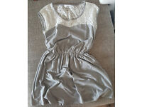 RESERVED Beautiful Grey Knee Lenght Tunic/ Dress Size M