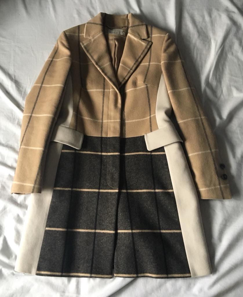 Karen Millen Winter Coat Wool Cashmere UK 14