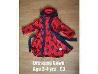 Cosy Dressing Gown - Age 3 to 4 years - like new