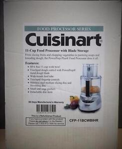 Cuisinart 11-Cup Food Processor with Blade Storage (Manufacturer Refurbished )