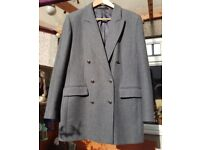 Lovely pure new wool ladies 3/4 length jacket, size 16