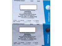 2xEminem Tickets Bellahouston Park Glagow 24/08/17