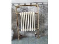Heated towel rail and radiator.