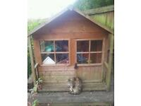 Kids Wooden Playhouse Summer House Shed Den Hut Good condition