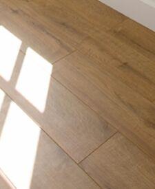 BRAND NEW 3 packs (6sq.m.)8mm v-groove click system rustic oak laminate flooring