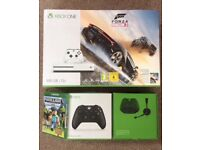 BRAND NEW, sealed Xbox One S 500gb + 2 games + chatpad and headset + additional controller