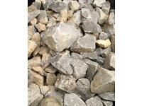 FREE: 7 bags of grey stone aggregate sizes 20mm-40mm