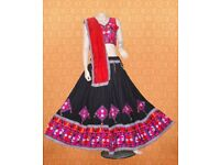 BLACK TRADITIONAL FESTIVE WEAR GHAGRA CHOLI FOR GARBA NIGHTS