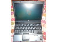 HP Compaq 6910p Laptop, Win7, Good condition, with battery and mains charger.
