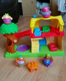 Weebles Goldilocks and the 3 bears cottage and tree house by play skool