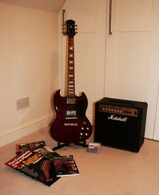 Epiphone Gibson SG–G400 Electric Guitar, PLUS -Amplifier, Stand & Score Books £300