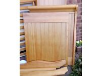 Obaby Stamford Pine Sleigh Cot Bed With Drawer REDUCED TO CLEAR!