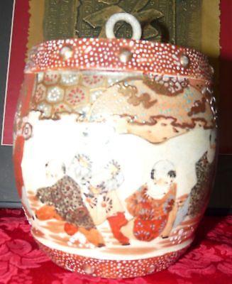 Beautiful Satsuma Biscuit Jar