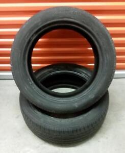 (E69) 2 Pneus Ete - 2 Summer Tires 225-50-17 Continental