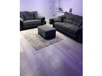DFS 3 Seater Sofa, 2 Seater Sofa & Storage Foot Stool