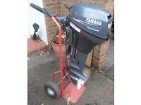 Yamaha 9.9 Outboard Engine Long Shaft for Boat Dinghy Tender, as new condition