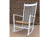 Hans Wegner J16 Danish Mid Century Rocking Chair Retro 60s