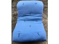 "Great Futon from ""Futon Company"", very comfy as chair and bed! Blue mattress £50 ono"