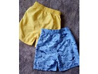 Toddler Boy - 2 pack swimshorts Size 18-23m