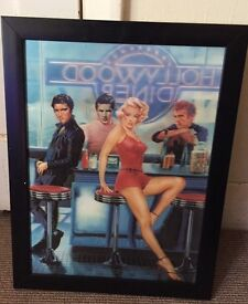 3D Hollywood Picture in Black Frame