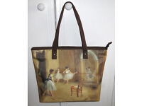 """Tote Hand Bag: Degas """"Dance Class At The Opera"""" Depicting Ballet Lesson"""
