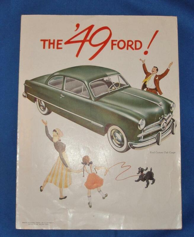 1949 FORD Fold Out Sales Brochure Poster The