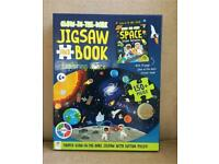 Glow-in-the-dark JIGSAW AND BOOK exploring space excellent condition like new, collection only