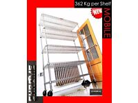 CHROME SHELVING HOME SHOP ORGANISE CATERING BAKE STORAGE HEAVY DUTY 362 KG PER SHELF FOOD SAFE A1 🔝