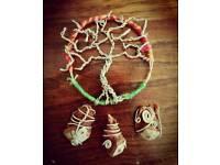 Tree pendant - handmade accessory