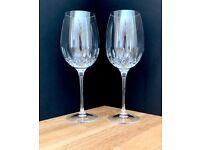 A pair of beautiful unused Waterford Crystal Wine glasses