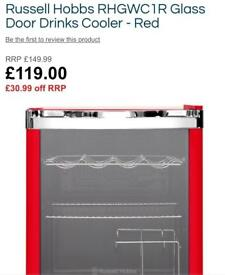 New never been used ex display Russell Hobbs drinks cooler only £70 bargain price