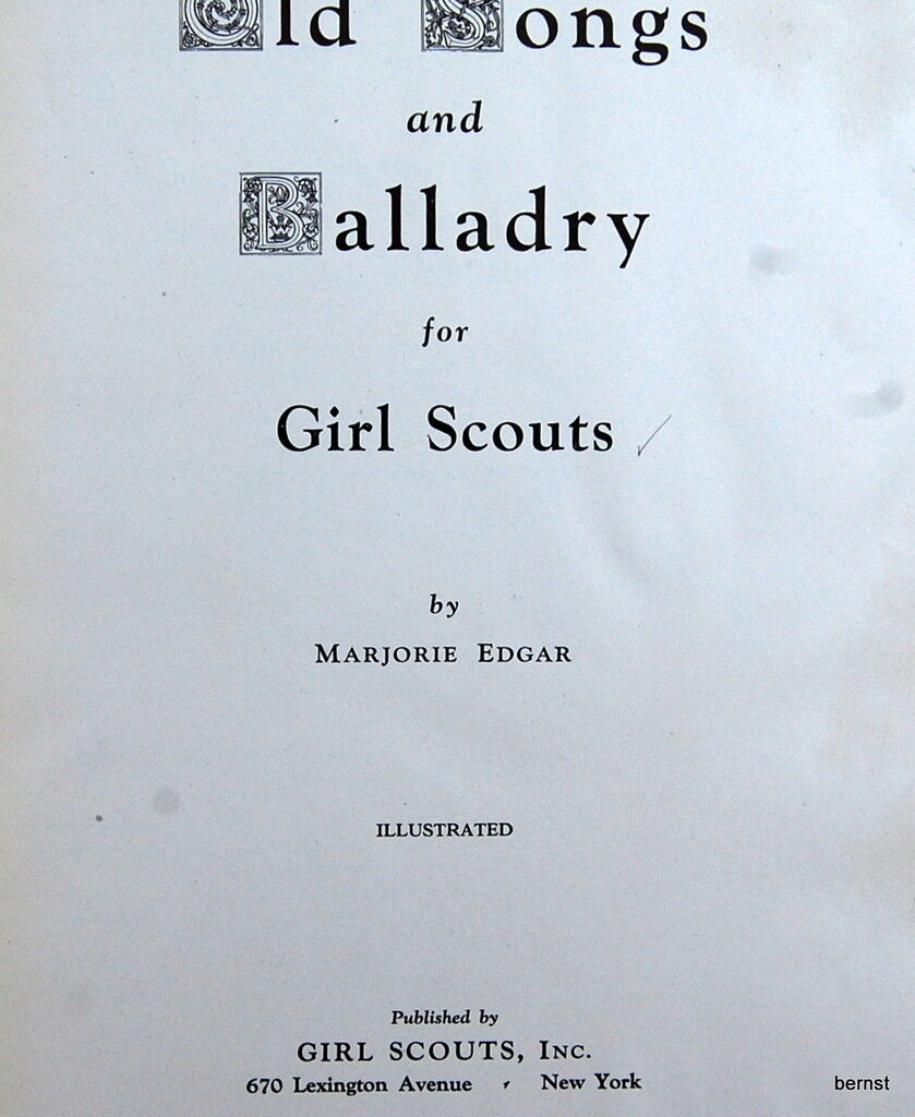 vintage girl scout   1930 old songs and balladry for girl