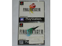 Sony PlayStation 1 PSP Vintage Final Fantasy VII 7 (1997) and VIII 8 Games. Cased with Manuals