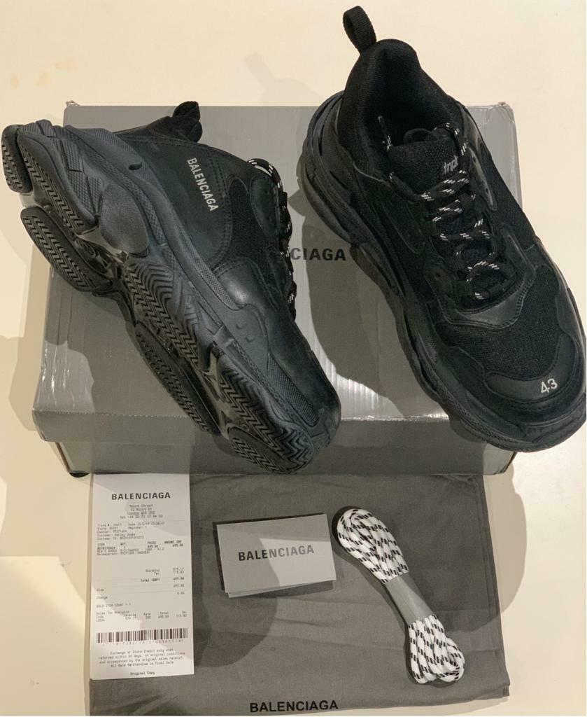 Balenciaga Triple S Runners black size 43 | in Newham, London | Gumtree