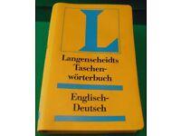 LANGENSCHELDTS ENGLISH TO GERMAN WORD BOOK