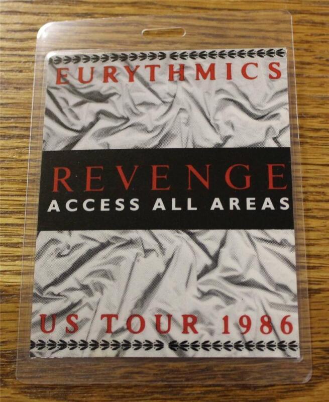 Vintage & Genuine Eurythmics Revenge US Tour 1986 OTTO Laminated Backstage Pass
