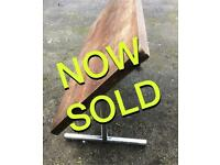 Mid century fold flipup dining table meeting room chrome base scuffed