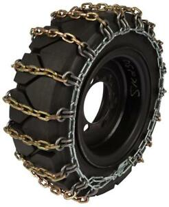 NEW 12X16.5 HEAVY DUTY SKID STEER TIRE CHAINS 8 MM LUG