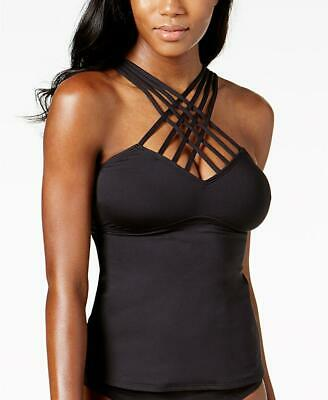 NWT Kenneth Cole Strappy Tummy Control Tankini Hipster Swimsuits Set Medium